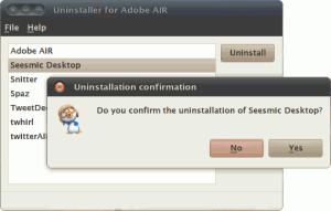 Удаление Air приложений в Ubuntu