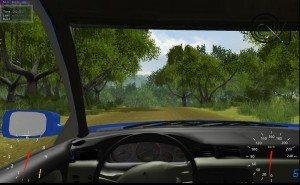 Stun Rally - вид из авто
