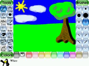Tux Paint Простое рисование