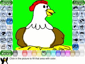 простой рисунок в Tux Paint