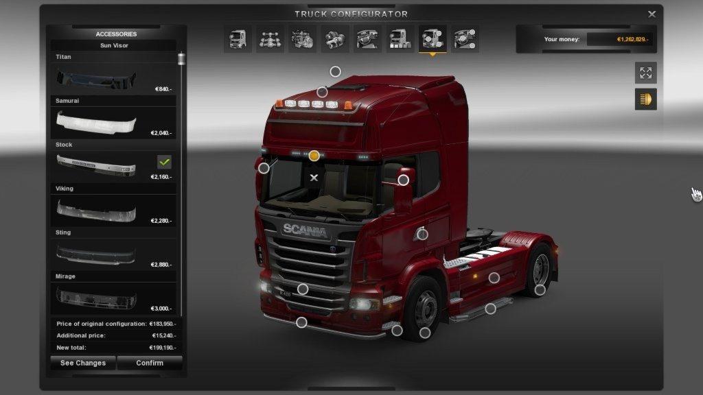 Euro Truck Simulator 2 марки автомобилей