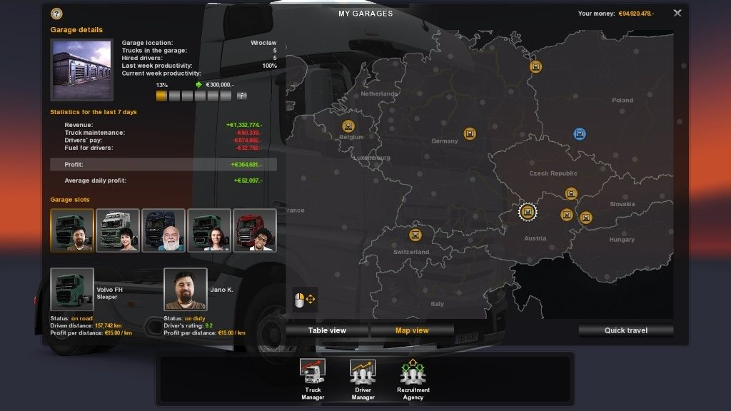 Euro Truck Simulator 2 собственная фирма